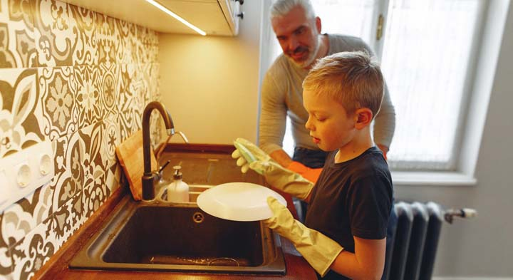 Children are happy if they can help with household chores