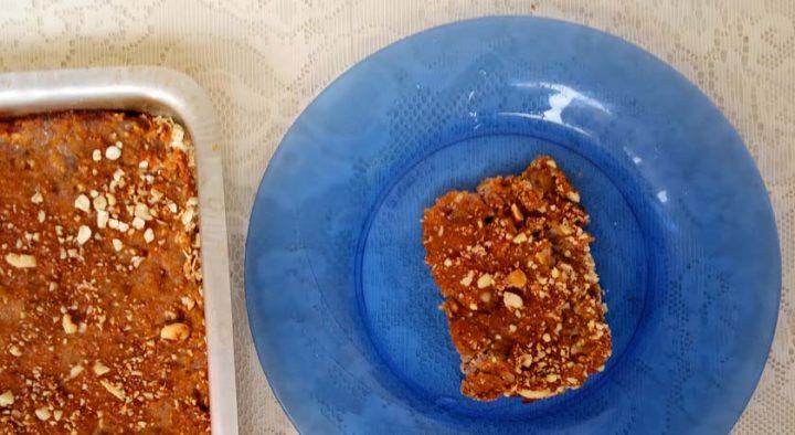 Torta de Banana e Amendoim