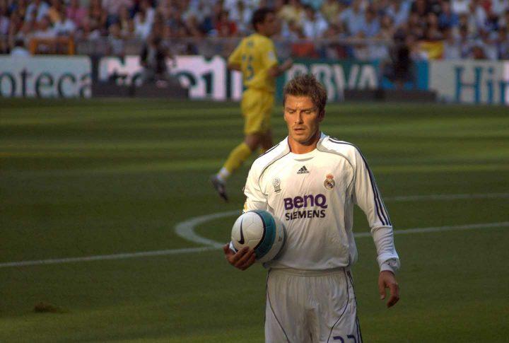 David Beckham jogando por Real Madrid - By David Cornejo, CC 2.0 Wikipedia